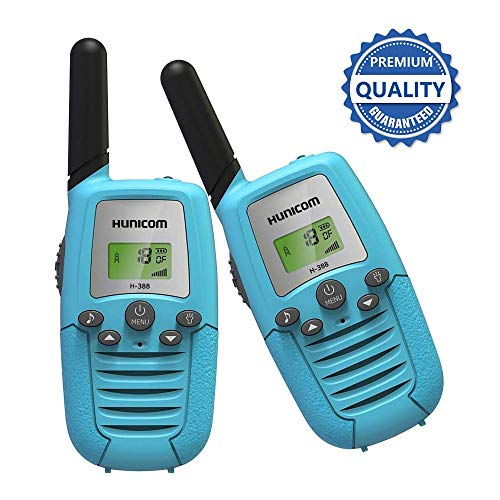 HUNICOM Toy Walkie Talkies for Kids, Clear Sound Kids Two Way Radio, Friendly Design Toddlers Walkie Talkies for Boys and Girls, Kids Walky Talky for Family Activities, Camping, Hiking, Biking