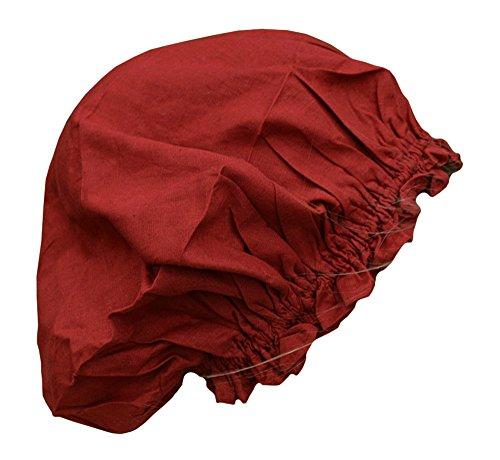 Battle-Merchant Mittelalterliche Damenhaube aus Baumwolle Einheitsgröße Hut Haube Ritter LARP Kleidung Wikinger (Rot)