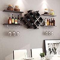 portabottiglie parete scaffale vini wall wine rack scaffale porta bottiglie con montaggio a parete nero con 4 ripiani galleggianti accessori per bar scaffalature portabottiglie vino,bar bicchieri vino