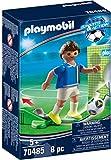 PLAYMOBIL- Sports & Action Jugador de Fútbol, Italia, Multicolor (70485)