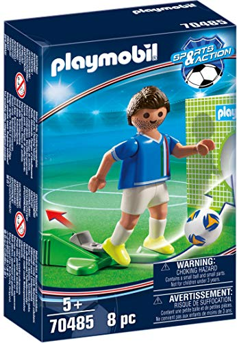 PLAYMOBIL- Sports & Action Jugador de Fútbol, Italia, Multicolor (70485)