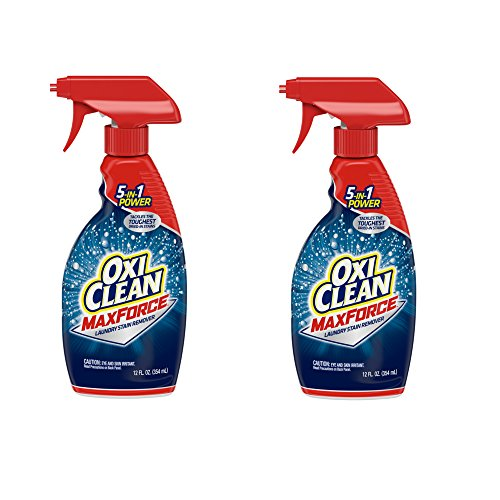 OxiClean Max Force Laundry Stain Remover Spray, 12 Fluid Ounce (Pack of 2)