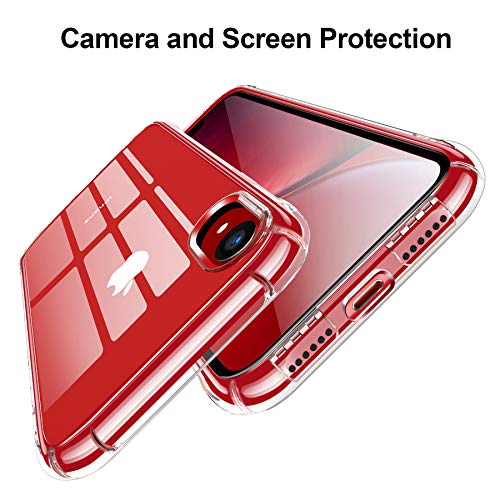 iPhone XR Case, CANSHN Clear Protective Heavy Duty Case with Soft TPU Bumper [Slim Thin] Case for iPhone XR 6.1 Inch (2018)-Crystal Clear