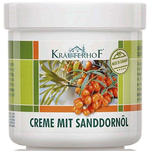 Crème à l'huile d'argousier Kräuterhof, Lot de 2 (2 pots de 250 ml)