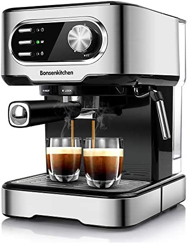 Espresso Machine 15 Bar Coffee Machine With Foaming Milk Frother Wand 1450W High Performance product image