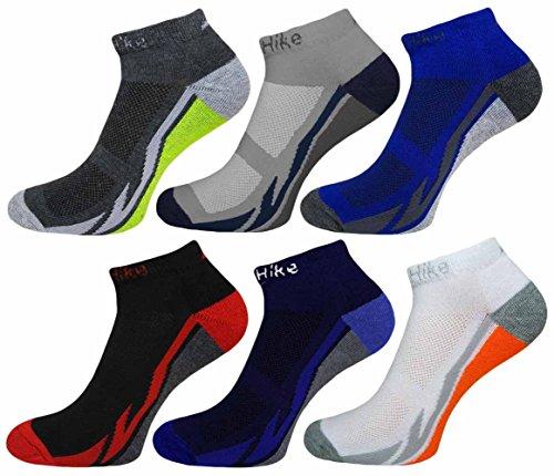 SMG 6 Pairs Mens Multi Coloured Cotton Trainer Sports Socks UK Size 6 11