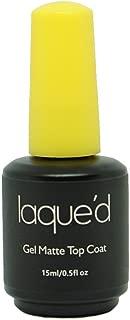 LAQUE'D by LAQUE Gel Matte Top Coat UV/LED Soak Off, 0.5 FL oz