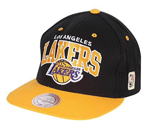 Mitchell & Ness Team Arch Los Angeles Lakers Snapback Cap schwarz/gelb, OS