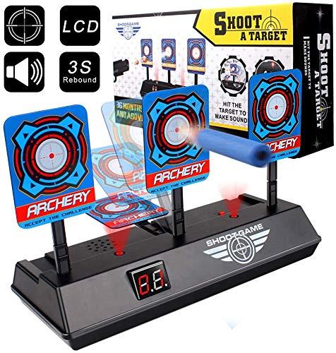StillCool Bersaglio Elettrico per Nerf Guns, Auto-Reset Mobile Intelligent Light Sound Effect Scoring per Soft Bullet Toy Gun N-Strike Elite/Mega/Rival Serie (Batteria Non Inclusa)