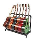 Folding Multi-Guitar Display Rack Guitar Stand Multi-Instrument Floor Stand Guitar Rack Holder Stand Accessories for Home or Studio - Keeps Musical Instruments Safe (7 Holder)