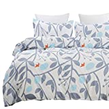 Vaulia Lightweight Microfiber Duvet Cover Set, Reversible Print Pattern Design - Full/Queen Size