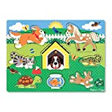 Melissa & Doug- Pets Peg Juego Puzzle con 8 Piezas, Multicolor (19053)