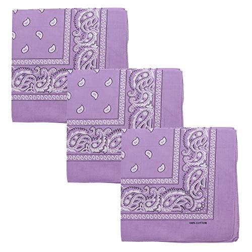 Set of 3 Jumbo Bandanas (Lavender)