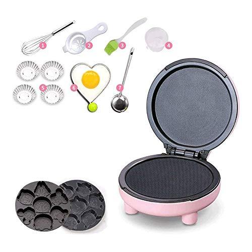 Hammer Mini galleta Maker- Hace 7 diversión, diferente panqueques Shaped - eléctrico antiadherente waffler, Hogar Hornear automático de múltiples funciones mini niños de la historieta de la torta máqu