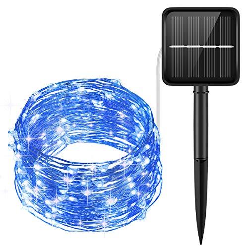 AMIR 200 LED Solar String Lights (150 LED, Warm White)