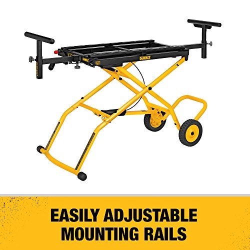 DEWALT DWX726 Miter Saw Stand With Wheels, Yellow