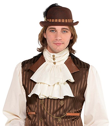 amscan 8400539 Ivory Steampunk Jambot BrownAdult, One Size, 1 Count