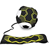 Football Kick Trainer,football training aid.Hands Free Solo Practice Training Aid With Belt & Elastic Rope.Perfect for Football Skills Improvement.Fit for Balls Size #3#4#5,Football Training Equipment