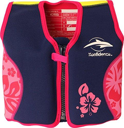 The Original Konfidence Jacket Schwimmlernhilfe für Kinder, Größe:4-5 Jahre, Design:pink/hibiscus