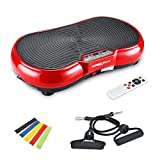 Vibration Plate Machine, Whole Body Fitness Vibration Platform with Remote Control and Resistance...