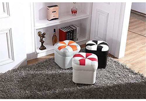Moda Cuero Cuero Cama Sala de Estar Sofá para el hogar Banco de Creativo Adecuado para Muchos Lugares Se Puede Usar como decoración, PearlYellow