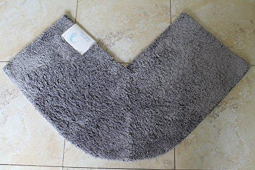 Cazsplash Eck-Duschmatte, Baumwolle, grau, 47 x 44 x 6.5 cm