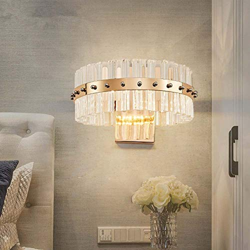 LWX Modernas Minimalista Dormitorio De Noche Artes Creativas Lámpara De Cristal Sala De Estar Diseñador De Telón De Fondo del Canal Pasillo Escandinavo Alta 26cm * 20cm De Largo