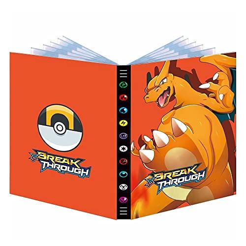 Album Compatible Con Cartas de Pokemon,Carpeta Pokemon Tarjetas,Fundas Protectoras de Cartas Pokemon 7 MODELOS diferentes Sostiene hasta 432 tarjetas (LEGENDARY)