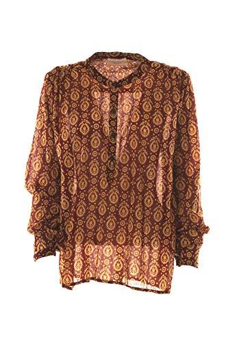VICOLO Camicia Donna Rosso/Giallo Tk0136 1/20 Primavera Estate 2020