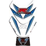 Protector para Depósito para S-uzuki GSXR 1000 2009 2010 2011 2012 2013 2014 2015 Motorcycle 3D Fuel Stay Pad Pegatinas Protectoras Calcomanías (Color : D)