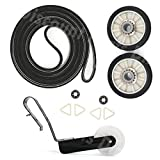 4392065 Dryer Repair Roller Kit 341241 Drum Belt 691366 Idler Pulley 349241T Roller For Whirlpool Kenmore Maytag, Replaces 26000279436, 279435, 279436, 279708, 279708MS, 279709