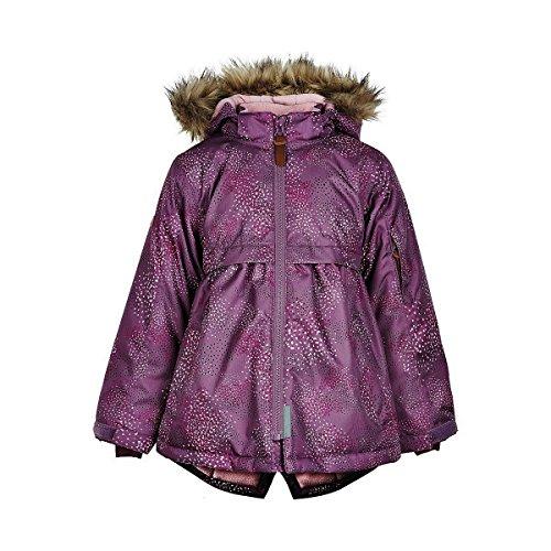 MINYMO kinderen meisjes sneeuw- en ski-jack, kleur: paars, gevoerd, waterdicht, 8000 mm waterkolom, 160273