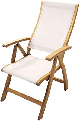 Courtyard Casual 5033 Heritage Collection 1 Sling Recline Chair, Natural