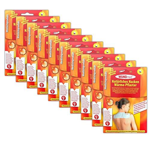 10x Wundmed Nackenpflaster | Wärmepflaster Nacken Pflaster | Schmerzpflaster Wärmetherapie Schulter | Wärmepad Rücken