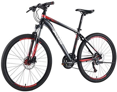 Bicicletas 26 pulgadas de montaña adultos, 27 velocidad de la bicicleta de montaña, bicicleta de montaña marco de aluminio Rígidas de los hombres, de doble suspensión Alpine bicicletas, (Size : M)