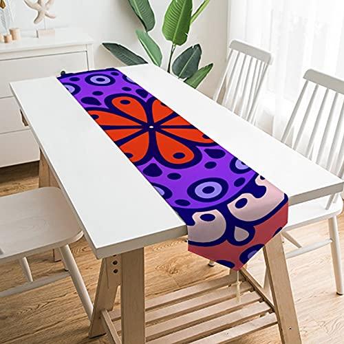 by Unbranded Camino de mesa de 177,8 x 33 cm, decoración de mesa para el hogar, medallón bohemio étnico indio, decoración de mesa para boda, cocina, comedor, fiesta festiva