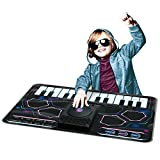 Electronic DJ Mixer Electronic Playmat ,Kids Musical Piano Keyboard and Scratch Pads Touch Sensitive Design Mat Background Music ,Adjustable Music Tempo Setting ,Plug in Music Smart Phone Compatible