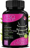 PESO BLOCK® | 120 PILLOLE DIMAGRANTI + E-BOOK DIETA CHETOGENICA | Dimagranti Potenti Veloci - Brucia Grassi per Dimagrire Velocemente