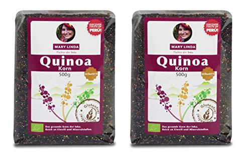Mary Linda BIO Quinoa Korn - Vegan ohne Gluten & Soja, aus biologisch kontrolliertem Anbau (schwarz) (2 x 500g)