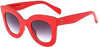Aiweijia Women's Classic Sunglasses Fashion Resin Large Frame Candy Color Anti-UV Eyeglasses