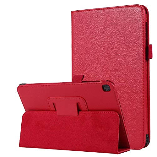 RZL PAD & TAB cases For Samsung Galaxy Tab A 8.0 2019 S Pen SM-P200 P205, Folio Case Magnetic Smart PU Auto-Sleep Stand Cover for Samsung P200 (Color : Red)