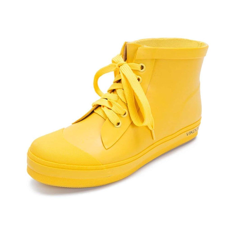 等しいカエル認証[ICECREAM] レインブーツ レディース 雨靴 ショート レースアップ 大きいサイズ 26.5センチまで レインシューズ おしゃれ 防水 防寒脱ぎ履き簡単 滑り止め クッション 梅雨対策 ガーデニング 農作業