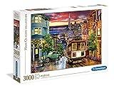 Clementoni- Puzzle 3000 Piezas San Francisco, Multicolor (33547.3)