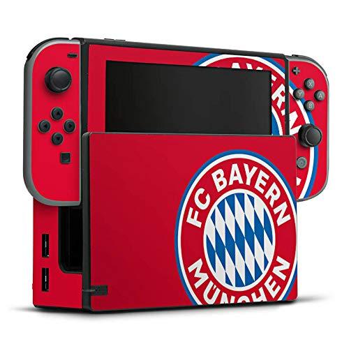 DeinDesign Skin Aufkleber Sticker Folie für Nintendo Switch FCB Fanartikel Merchandise FC Bayern München