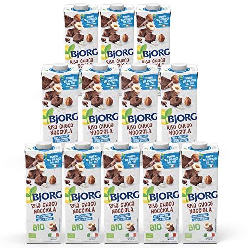 BJORG Bevanda di Riso al Cioccolato e Nocciole Bio (12 x 1L)