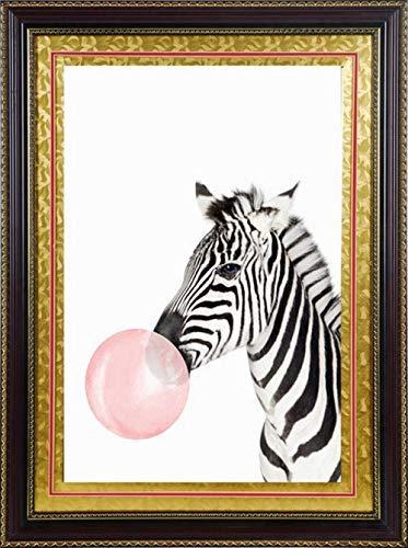 Hncsy Diamond Painting knutselen 5D kunst handwerk kruissteek boormachine complete set strass borduurwerk grote afbeelding wanddecoratie cartoon zebra
