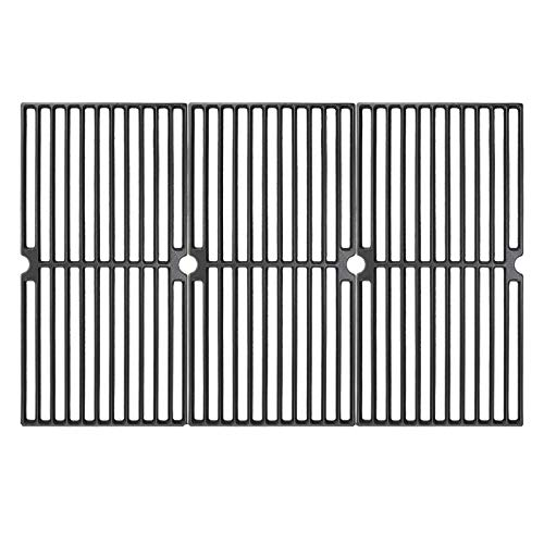 Hisencn 17.75 inch Grill Grate for Brinkmann 810, 810-2410-S, 810-3660-S, 810-2411-F, 810-7490-F, 810-8410-F, 810-8410-S, Charmglow 810-8410-F, 17 3/4 x 26 13/16 Cast Iron Cooking Grids Replacement