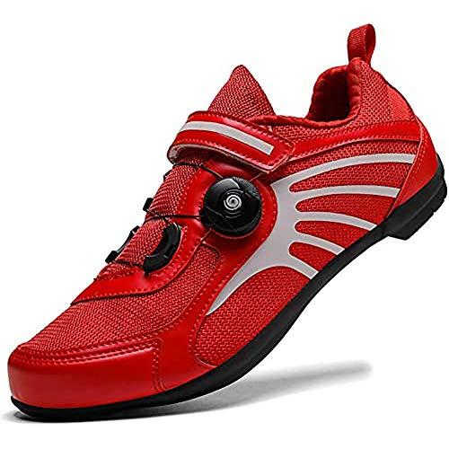 BHHT Zapatillas De Ciclismo Hombres Mujeres Zapatillas De Carreras Transpirables Antideslizantes Zapatillas De MTB Planas Sin Sistema De Clic Zapatillas De Carreras Ligeras para Exteriores