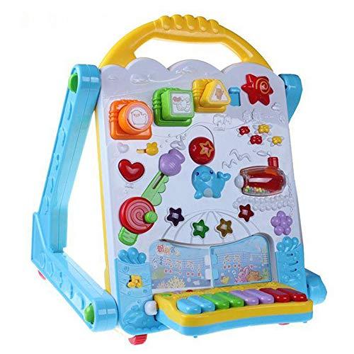 Marcheur d'activités Baby Steps Baby Music Walker Trolley Early Education Puzzle Walker Jouets pour enfants Anti-renversement 0-1 Ans Apprendre bébé marcheur ( Couleur : Bleu , Taille : 30*31*46cm )