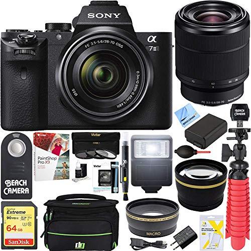 Sony A7 II full-cornice Alpha fotocamera mirrorless 24 MP (nero) solo corpo A7II ilce-7 m2 + 28-70 Kit